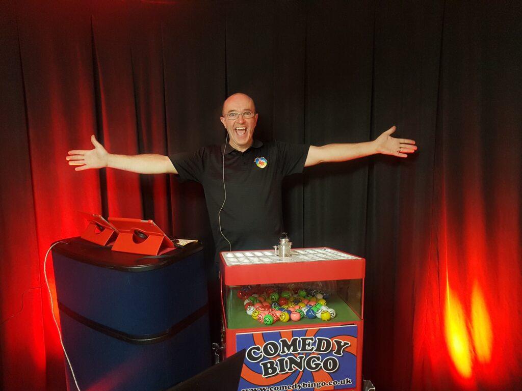 Comedy Bingo host Brendan Riley