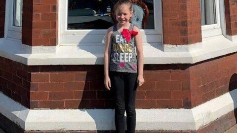 Brave schoolgirl, 9, runs 'marathon' to raise money for our NHS