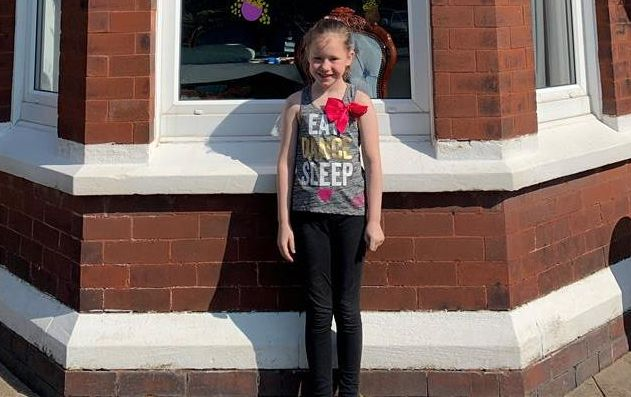 Sienna Aldred from Southport is running the equivalent of a marathon to raise money for the NHS